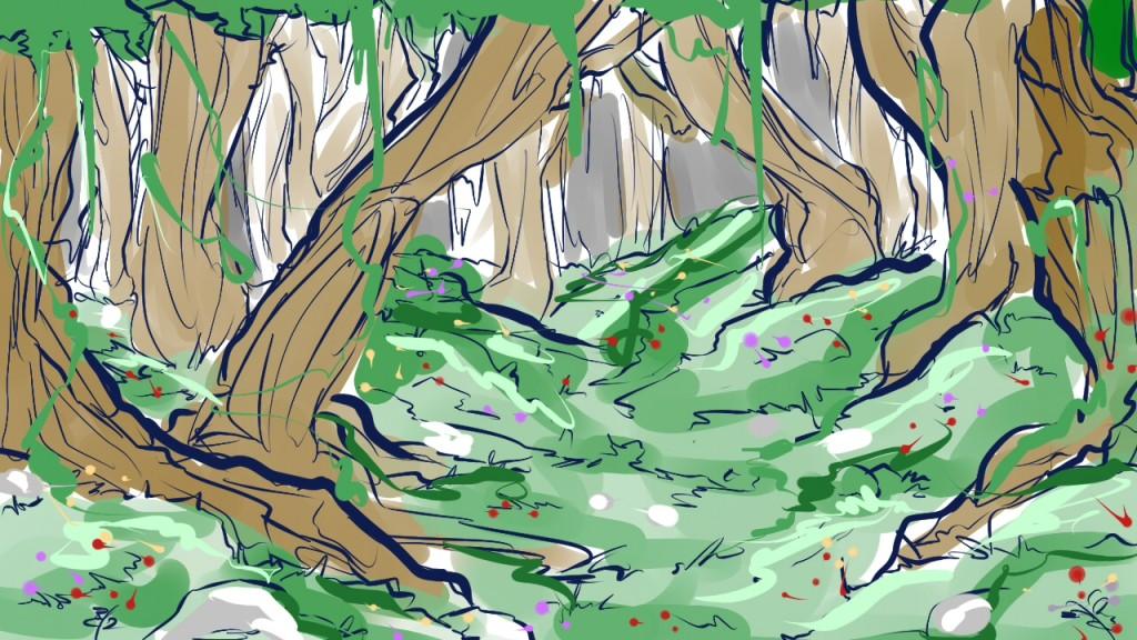 croquis Forêt d'Azertyy