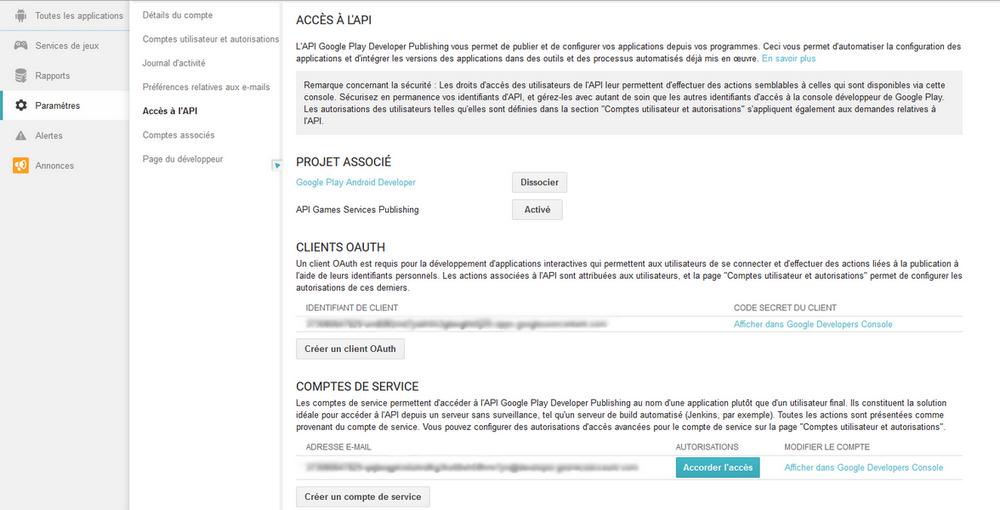 Acces API